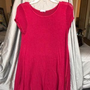 Midi Flowy Red Dress